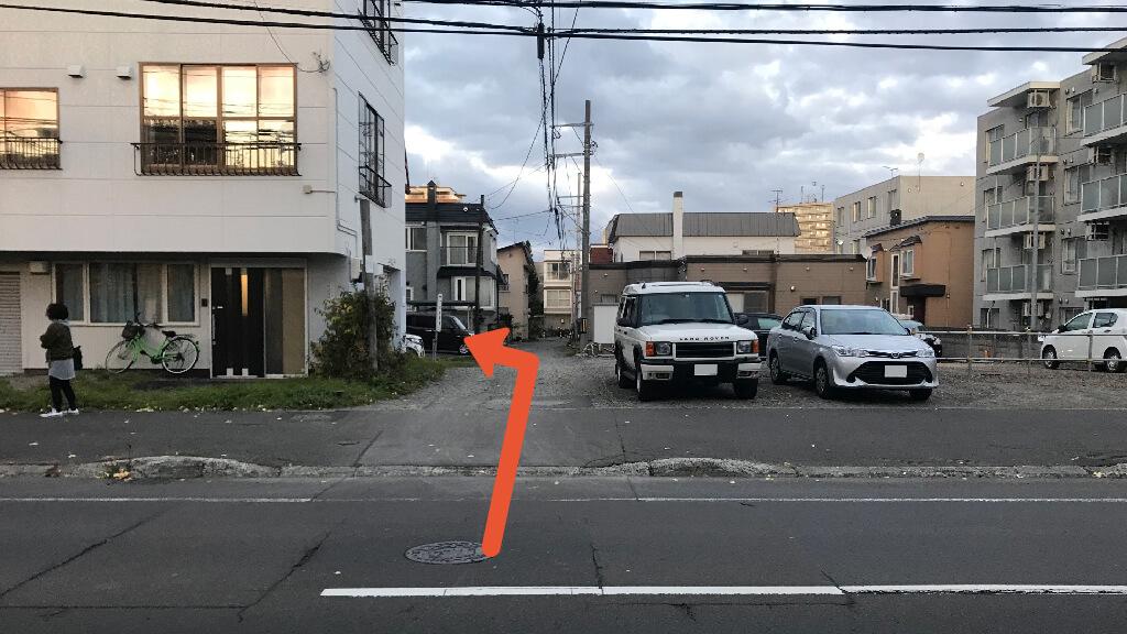 二条市場から近くて安い菊水一条3-3-41-15駐車場
