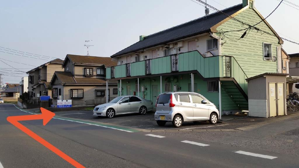 成田山新勝寺から近くて安い並木町136-35_コーポM駐車場